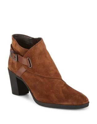 Saddle-Up Suede Booties by The Flexx