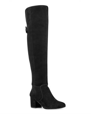 Queddy Leather Over-The-Knee Boots by Nine West