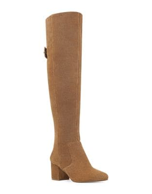 Queddy Suede Over-The-Knee Boots by Nine West
