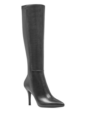 Fallon Leather Knee-High Boots by Nine West