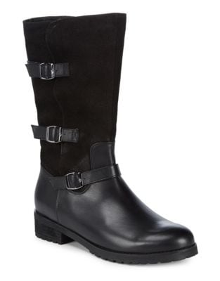 Lenie Leather Mid-Calf Boots by Blondo