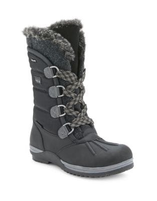 Sunnery Faux Fur Lace-Up Boots by Blondo