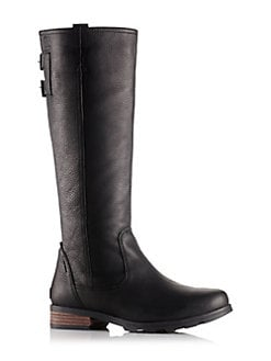 Emelie Leather Tall Boots BLACK Product image