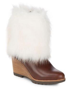 Parkcity Faux Fur Leather Boots by Sorel