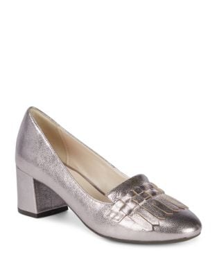 Mabel Grand Metallic Leather Pumps by Cole Haan
