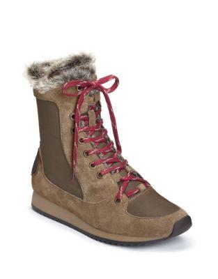 Timespan Faux-Fur Trimmed Hiker Boots by Aerosoles
