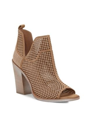 Kiminni Suede Peep Toe Booties by Vince Camuto