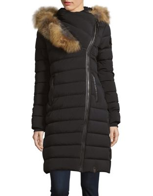 Fox Fur Trimmed Quilted Jacket 500087669649