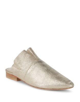 Photo of Sienna Shimmering Leather Slides by Free People - shop Free People shoes sales