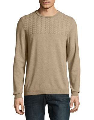 Cable-Knit Sweater @...