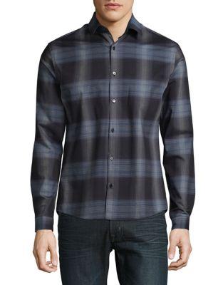 Plaid Button-Down Shirt...