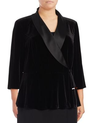 Plus Velvet Wrap Blouse by Alex Evenings