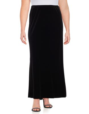 Plus Velvet Skirt by Alex Evenings