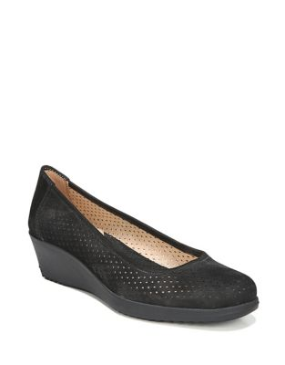 Betina Leather Wedge Pumps by Naturalizer
