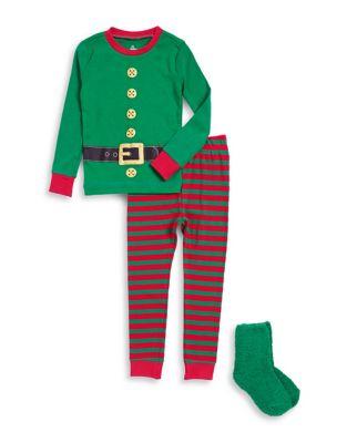 Baby Boys ThreePiece Elf Pajama Set