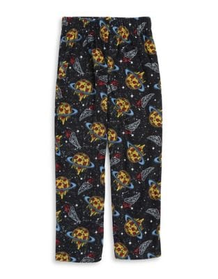 Little Boys and Boys Pizza Space Pajama Pants