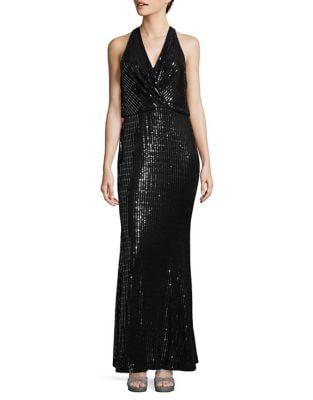 Metallic Wrap Dress by Calvin Klein