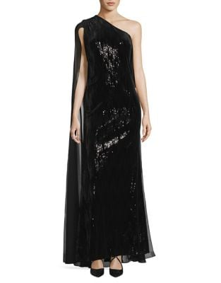 One-Shoulder Floor-Length Gown by Calvin Klein