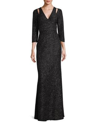 Shimmering Cut-Out Gown by Calvin Klein