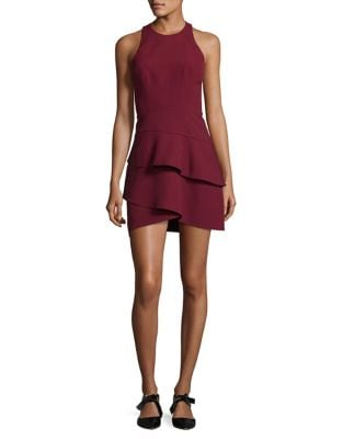 Ruffled Halter Dress by BCBGMAXAZRIA
