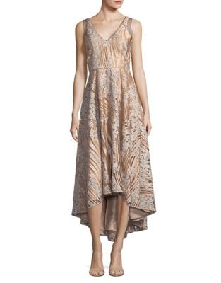 Embellished V-Neck Dress by Belle Badgley Mischka