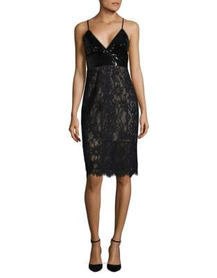 Sequin and Lace Dress by BCBGMAXAZRIA