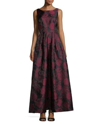 Two-Tone Sleeveless Dress by Alex Evenings
