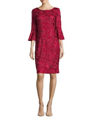Three-Quarter Bell Sleeve Dress by Alex Evenings