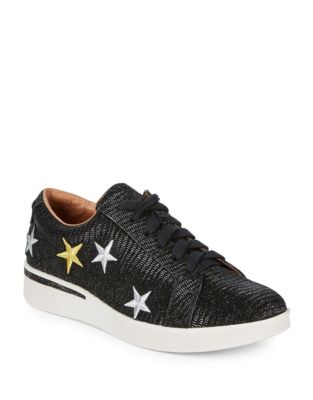 Haddie Star Embroidered Leather Sneakers by Gentle Souls