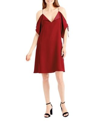 Trapeze Cold Shoulder Dress by Nicole Miller New York