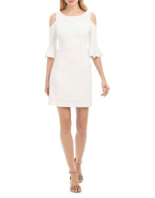 Bell-Sleeve Sheath Dress by Nicole Miller New York