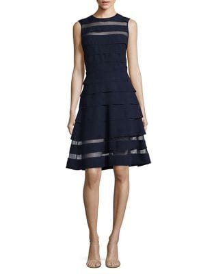 Tiered Fit-&-Flare Dress by Vince Camuto
