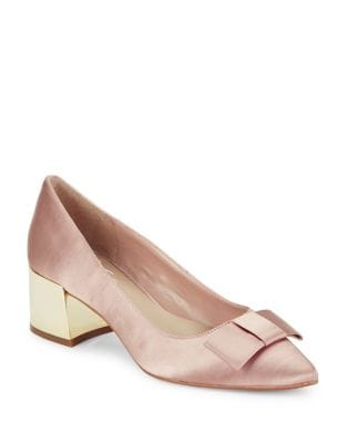 Darcy Satin Pumps by 424 Fifth