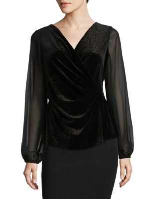 Illusion Velvet Top by Alex Evenings