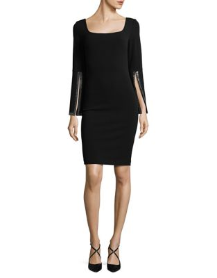 Rhinestone Embellished Sheath Dress by Calvin Klein