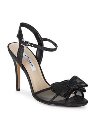 Charm Bow Glitter Ankle-Strap Sandals 500087707764