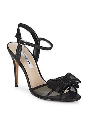 Nina - Charm Bow Glitter Ankle-Strap Sandals