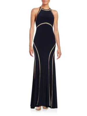 Halter Mesh Gown by Xscape