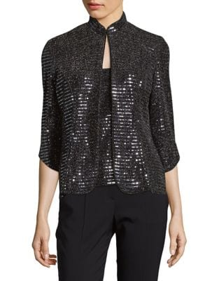 Sequin Jacket and Tank Top Set by Alex Evenings