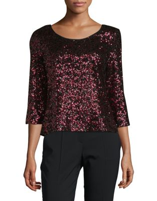 Three-Quarter Sleeve Top by Alex Evenings