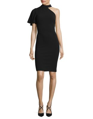 Flutter Sleeve Sheath Dress by Calvin Klein