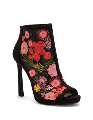 Pascall Embroidered Booties by Jessica Simpson