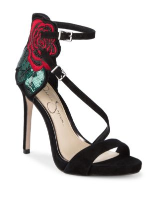 Reesa Suede Ankle Strap Sandals by Jessica Simpson