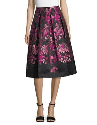 Floral Pleated Skirt by Eliza J