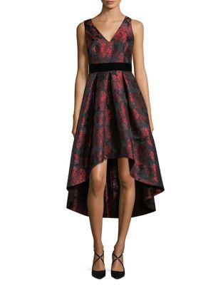 Jacquard Pleated Dress by Eliza J