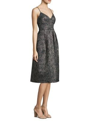 Jacquard Fit-&-Flare Dress by Laundry by Shelli Segal