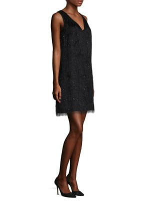 Fringed Shift Dress by Laundry by Shelli Segal