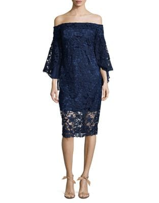 Off-The-Shoulder Lace Dress by Laundry by Shelli Segal