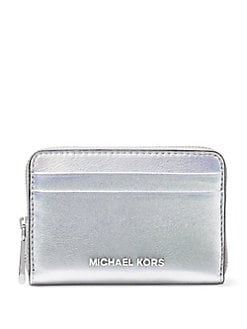 MICHAEL MICHAEL KORS. Slim Leather Wallet. $138.00. Classic Leather Card  Case SILVER. Product image