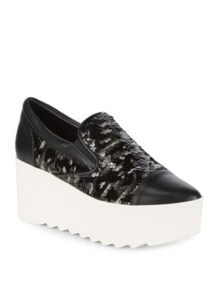 Tanya6 Sequin Slip-On Platform Sneakers by KENDALL + KYLIE